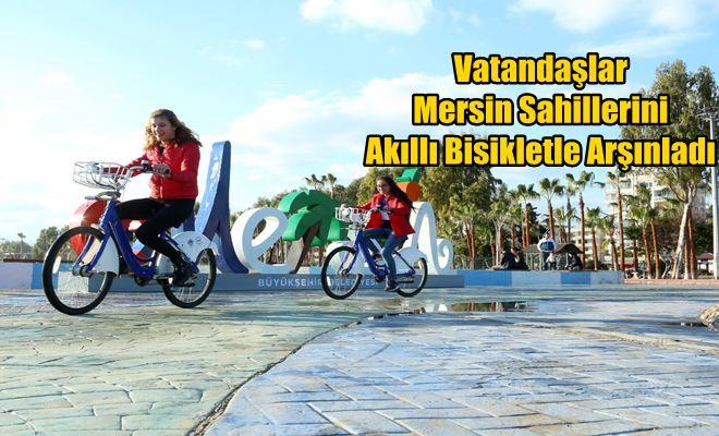 Vatandaşlar Mersin Sahillerini Akıllı Bisikletle Arşınladı