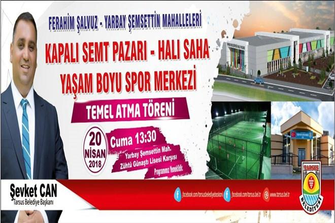 Belediye'den Tarsus'a Yeni Tesisler