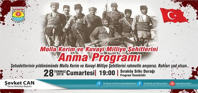 Molla Kerim Ve Kuvayi Milliye Şehitleri, Sıraköy Mahallesi'nde Anılacak