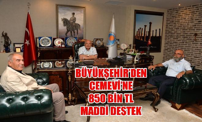 Büyükşehir'den Yenişehir Cemevi'ne 850 Bin TL Maddi Destek