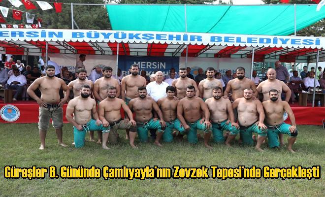 Güreşler 6. Gününde Çamlıyayla'nın Zevzek Tepesi'nde Gerçekleşti