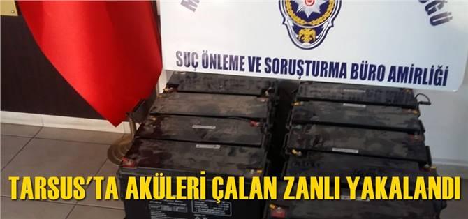 Tarsus'ta Aküleri Çalan Zanlı Yakalandı