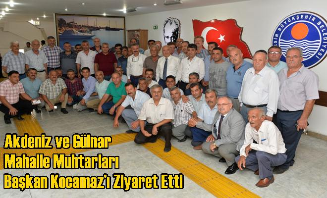 Akdeniz ve Gülnar Mahalle Muhtarları Başkan Kocamaz'ı Ziyaret Etti