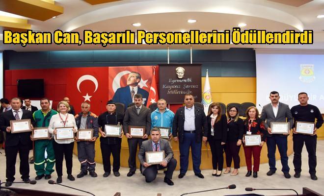 Başkan Can, Başarılı Personellerini Ödüllendirdi