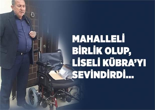 Mahalle Muhtarı Öncü Oldu, Engelli Lise Öğrencisi Kıza Yeni Akülü Tekerlekli Sandalye Alındı