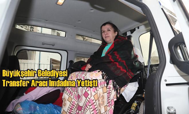 Büyükşehir Belediyesi Transfer Aracı İmdadına Yetişti