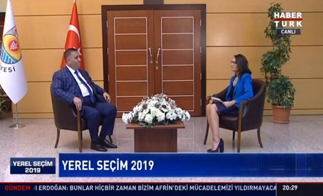 Başkan Can, HaberTürk Tv'de Canlı Yayın Konuğu Oldu