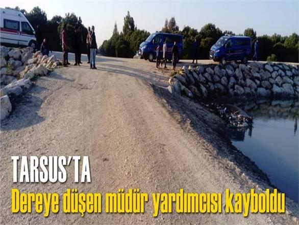 Tarsus'ta dereye düşen müdür yardımcısı kayboldu