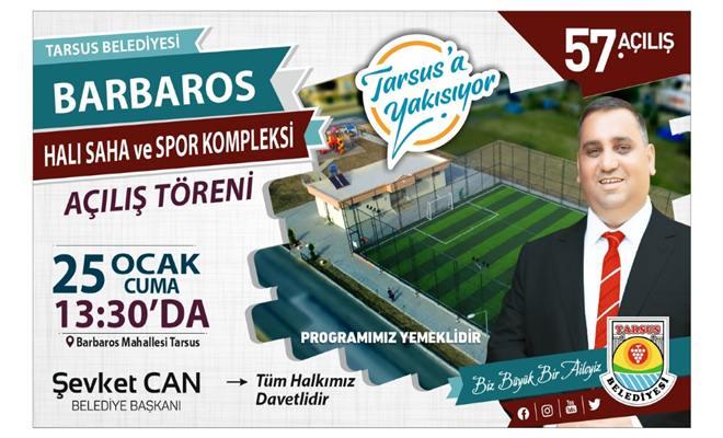 Barbaros Mahallesi Halı Saha ve Spor Kompleksi Açılıyor