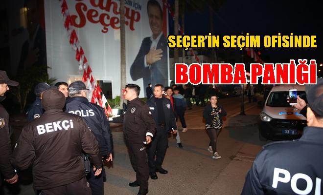 Seçer'in Seçim Ofisinde Bomba Paniği