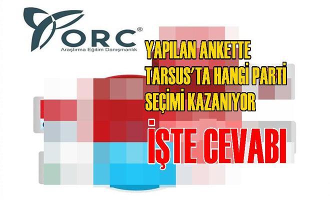 Yapılan Son Ankette Bakın Hangi Parti Tarsus'ta Seçimi Kazanıyor