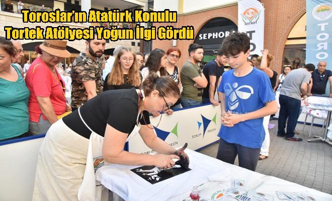 Toroslar'ın Atatürk Konulu Tortek Atölyesi Yoğun İlgi Gördü