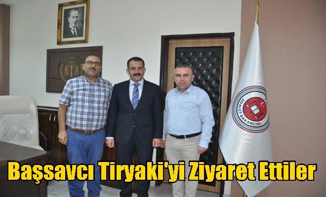 Başsavcı Tiryaki'yi Ziyaret Ettiler