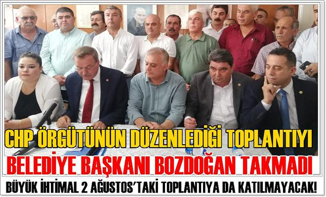 Başkan Bozdoğan,İl Başkanını, İlçe Başkanını ve Milletvekillerini Takmadı