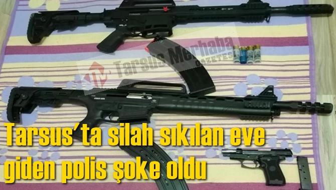 Tarsus'ta Silah Sıkılan Eve Operasyon Yapan Polis Şoke Oldu