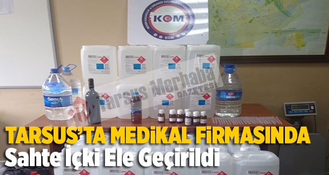 Tarsus'ta Medikal Firmasına Baskın Yapan Polis Şoke Oldu