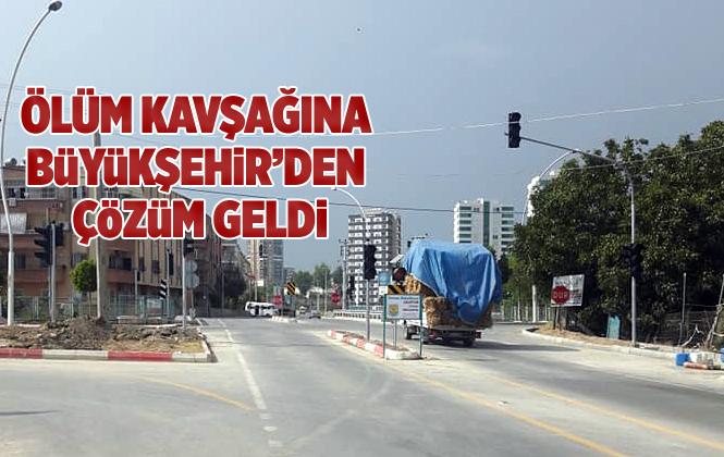 Baraj Yolundaki Ölüm Kavşağına Mersin Büyükşehir Belediyesinden Çözüm Geldi