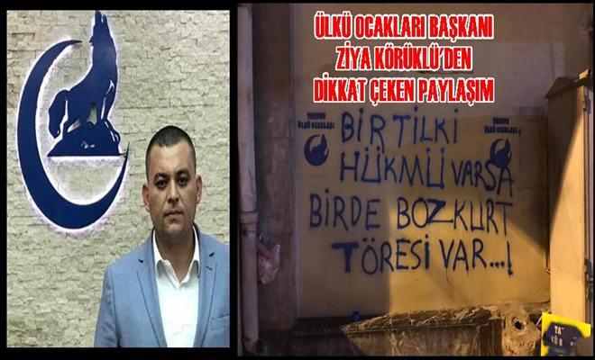 Tarsus Ülkü Ocakları Başkanı Ziya Körüklü'den Çağrı