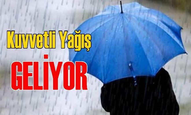 Tarsus ve Mersin İçin Kuvvetli Yağış Uyarısı Yapıldı