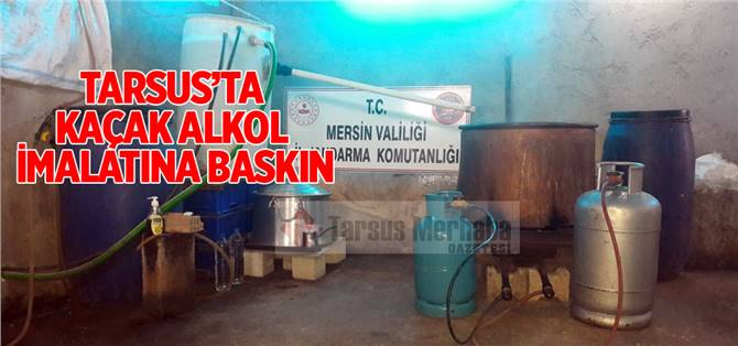 Tarsus'ta Kaçak Alkol Operasyonu