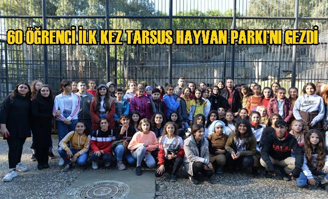 60 Öğrenci İlk Kez Tarsus Hayvan Parkı'nı Gezdi