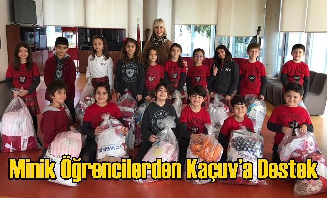 Minik Öğrencilerden Kaçuv'a Destek
