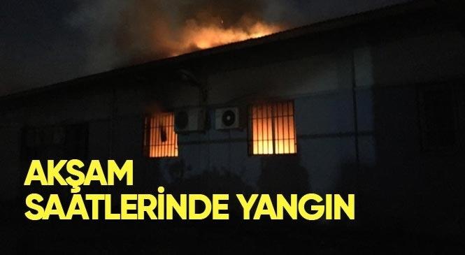 Şehitishak Mahallesinde Bulunan Mehmet Çelebi Spor Salonu Resim Atölyesi Bölümünde Yangın Çıktı