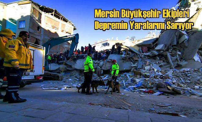 Mersin Büyükşehir Ekipleri Depremin Yaralarını Sarıyor