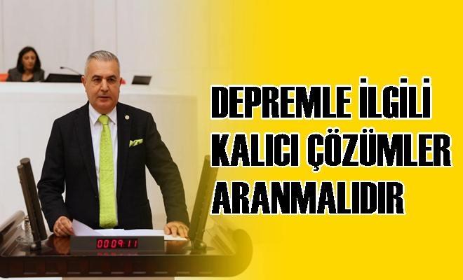 """MHP Milletvekili Şimşek: """"Depremle İlgili Kalıcı Çözümler Aranmalıdır"""""""