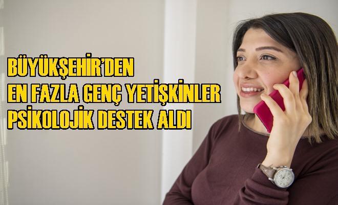 """Büyükşehir'in """"Telefonla ve Online Terapi"""" Hizmetine İlk Hafta 63 Kişi Başvurdu"""