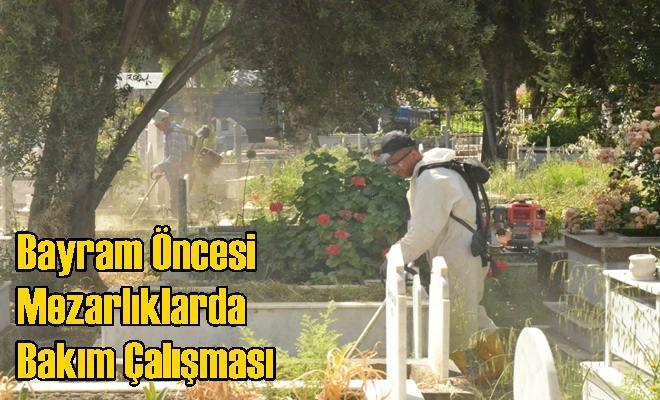 Büyükşehir Belediyesi'nden Bayram Öncesi Mezarlıklarda Bakım Çalışması