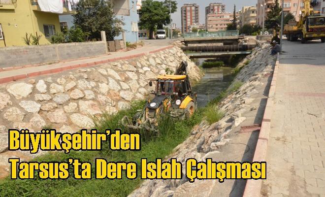 Büyükşehir'den Tarsus'ta Dere Islah Çalışması