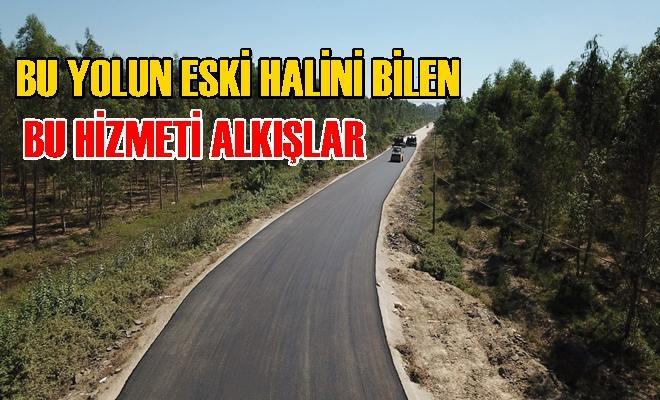 Tarsus'ta 2 Kilometrelik Yolda Asfalt Çalışması