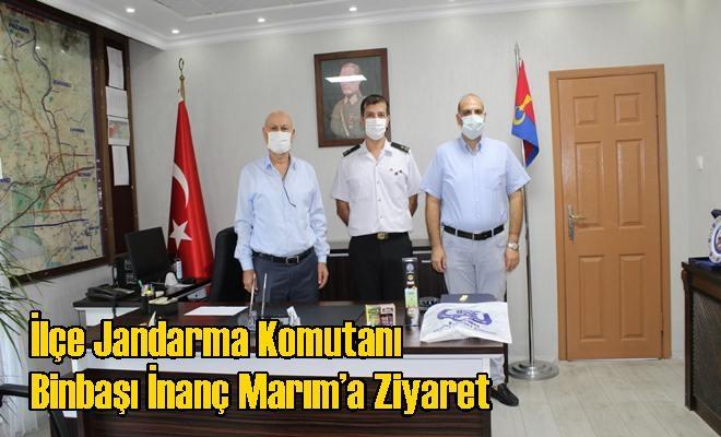 İlçe Jandarma Komutanı Binbaşı İnanç Marım'a Ziyaret