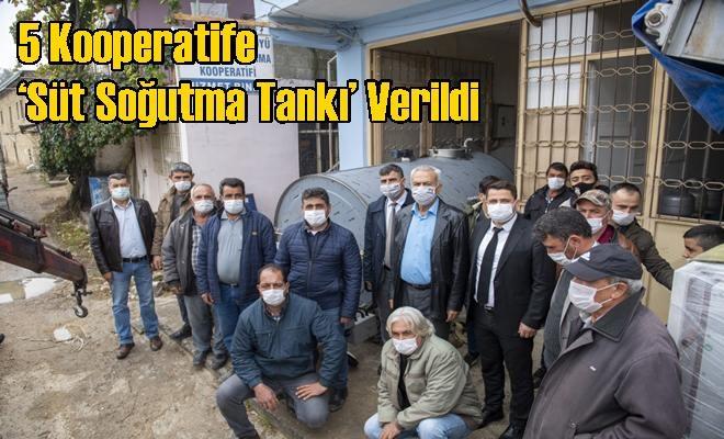 5 Kooperatife 'Süt Soğutma Tankı' Verildi