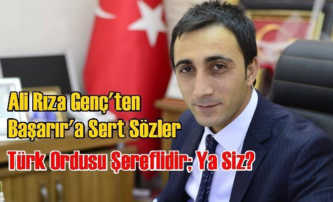 """Ali Rıza Genç'ten Sert Sözler """"Türk Ordusu Şereflidir; Ya Siz?"""""""