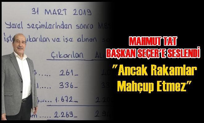 "MHP Meclis Üyesi Mahmut Tat ""Ancak Rakamlar Mahçup Etmez"""