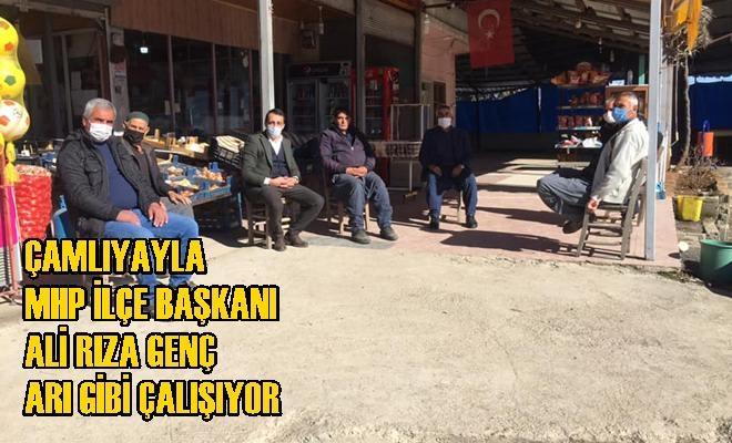 MHP Çamlıyayla İlçe Başkanı Ali Rıza Genç, Arı Gibi Çalışıyor