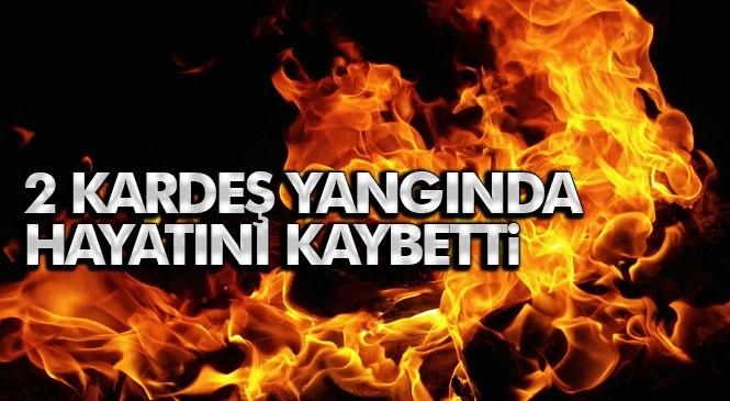 Tarsus'ta Meydana Gelen Ev Yangınında 2 Çocuk Hayatını Kaybetti