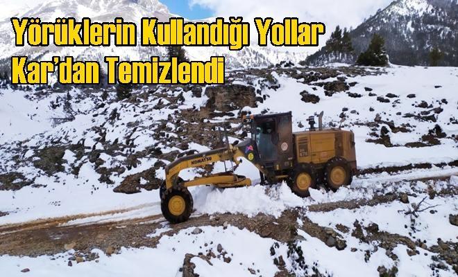 Yörüklerin Kullandığı Yollar Kar'dan Temizlendi