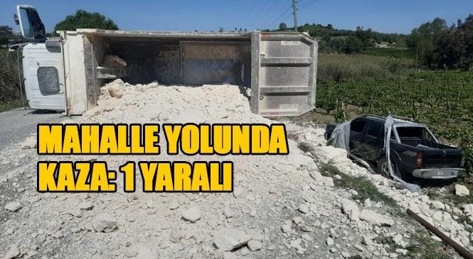 Mersin Tarsus'ta Hafriyat Kamyonu İle Kamyonetin Çarpışması Sonucu Meydana Gelen Kazada 1 Çocuk Yaralandı