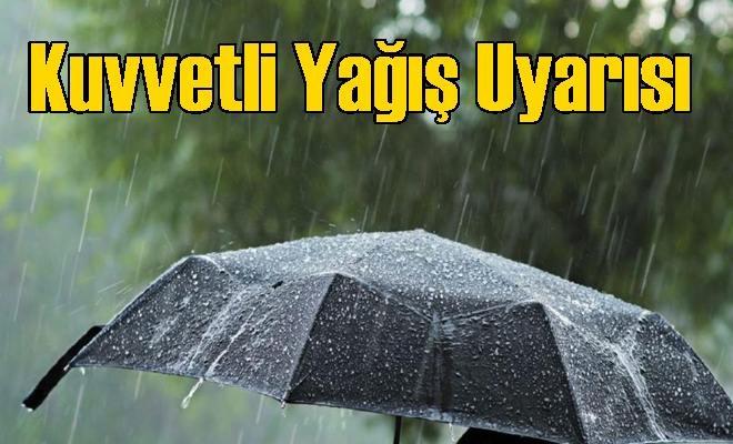 Tarsus ve Mersin İçin Kuvvetli Yağış Uyarısı