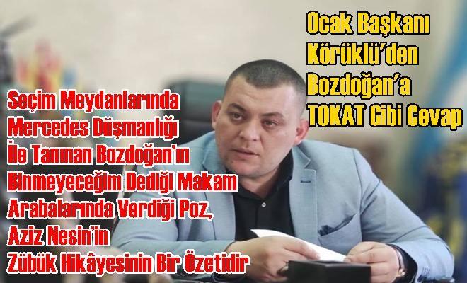 Tarsus Ülkü Ocakları Başkanı Ziya Körüklü'den Bozdoğan'a Tokat Gibi Cevap