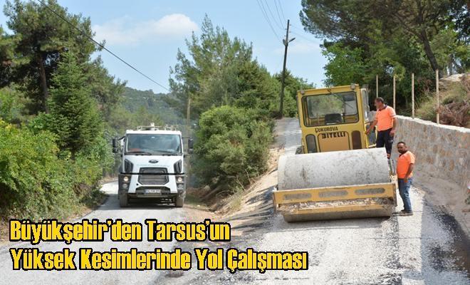Büyükşehir'den Tarsus'un Yüksek Kesimlerinde Yol Çalışması