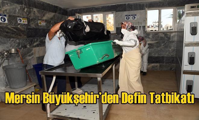 Mersin Büyükşehir'den Defin Tatbikatı