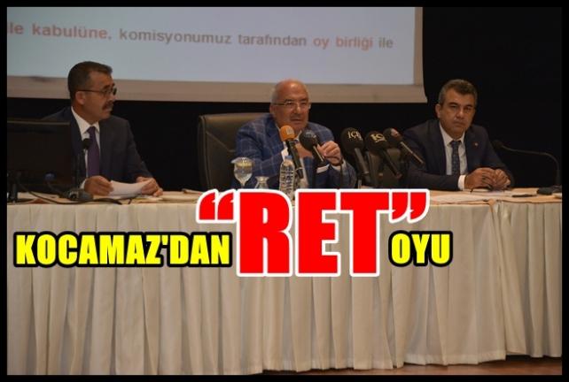 """Başkan Kocamaz'dan Nükleere """"RET"""" Oyu!"""