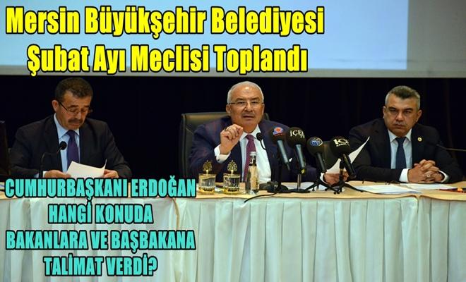 Mersin Büyükşehir Belediyesi Şubat Ayı Meclisi Toplandı